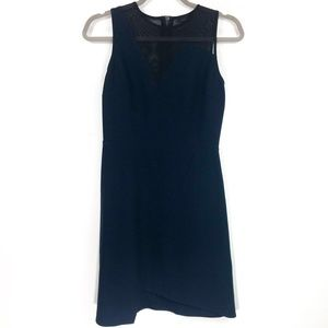 Topshop Black and Blue Sleeveless Mesh Dress 2